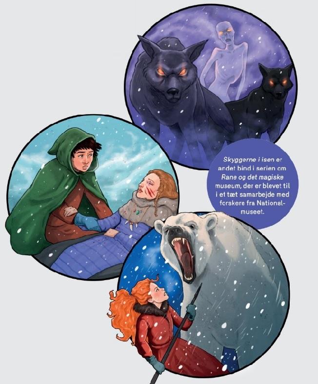 Rane og det magiske museum, Skyggerne i isen, Merlin P. Mann, Bodil Bang Heinemeier